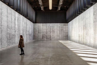 Beautiful artistic intervention inside hangar 16 at the former Slaughterhouse in Madrid
