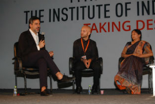 Round table at Taking Design to the masses symposium in Indore