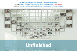 Andrea Zamboni´s review of Unfinished in Domus