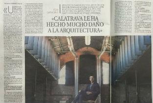 La Razon newspaper interviewing Iñaqui Carnicero