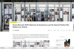 Venice Biennale 2016 Gabinete de Arquitectura and the Spanish Pavilion Win Golden Lion