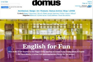 This time our project for a kindergarden English for fun published in Domus web