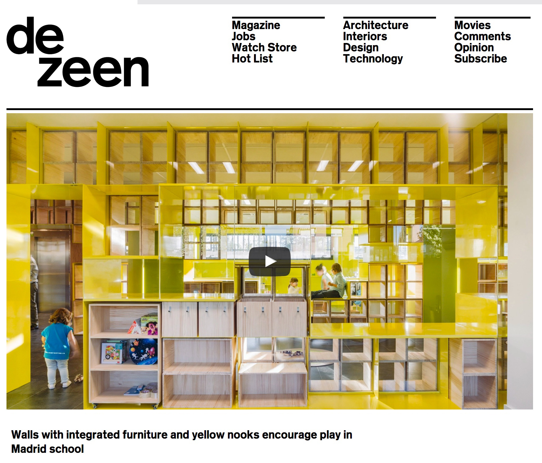 The kindergarten ¨English for fun¨ published on Dezeen