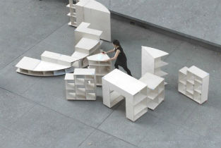 Ideas City ephemeral installation for Cooper Union New York
