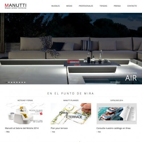 Manutti furniture at Pitch House