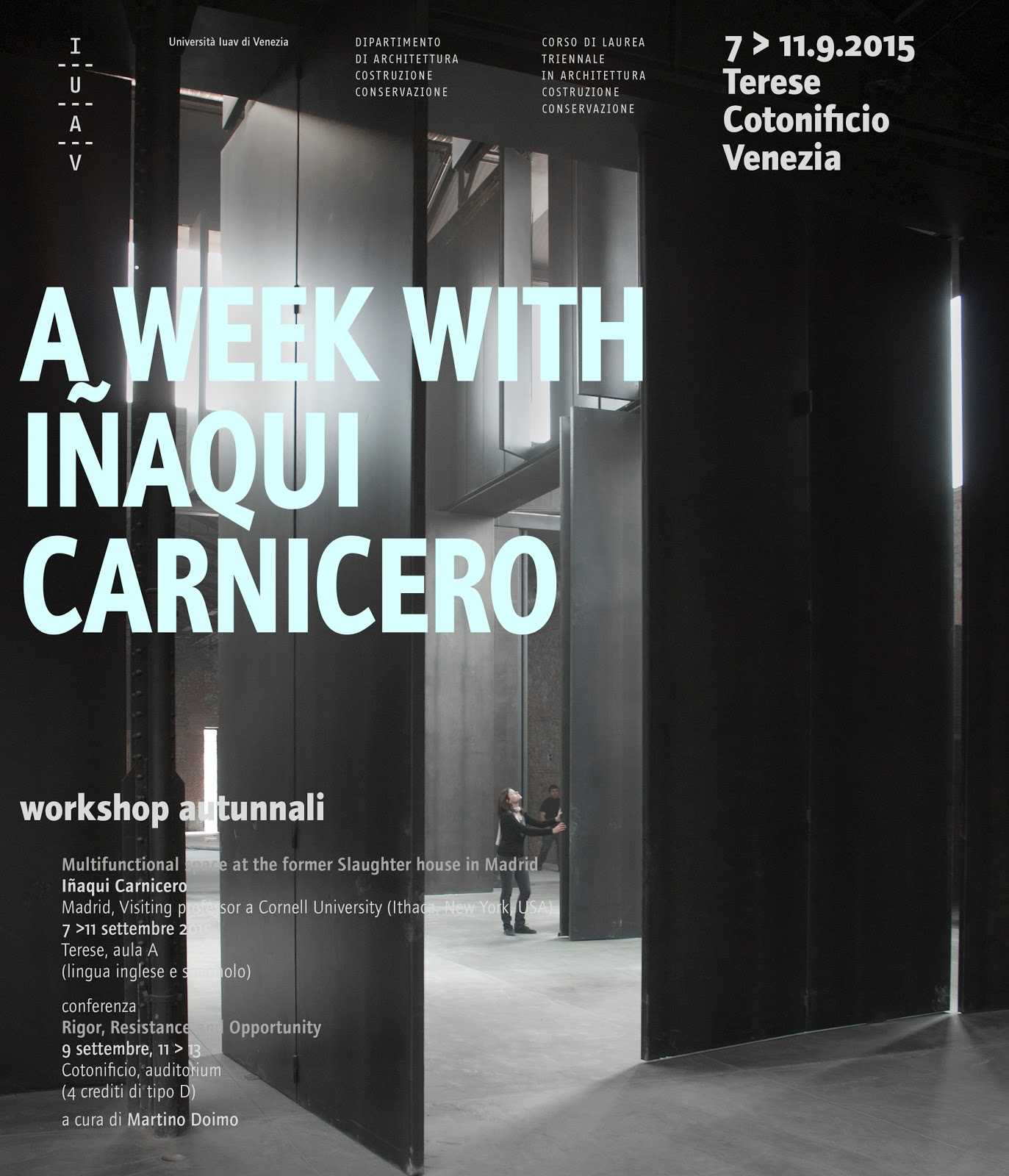 Studio Di Architettura In Inglese iñaqui carnicero invited to iuav in venice to give a one