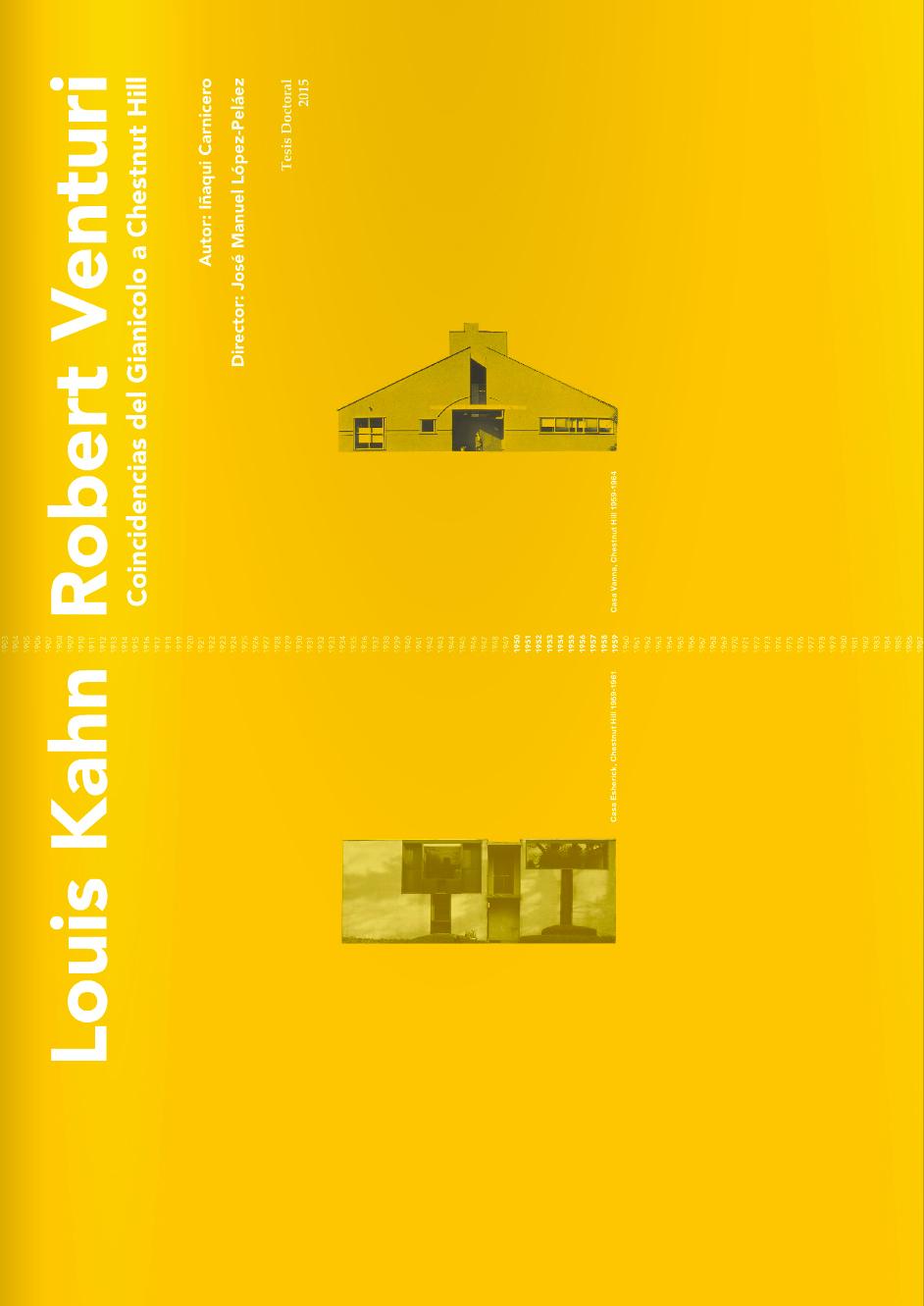 Louis Kahn, Robert Venturi: Coincidences. From Gianicolo to Chestnut Hill