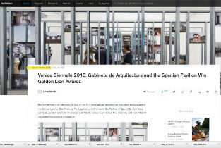 Venice Biennale 2016 Gabinete de Arquitectura and the Spanish Pavilion Win Golden Lion