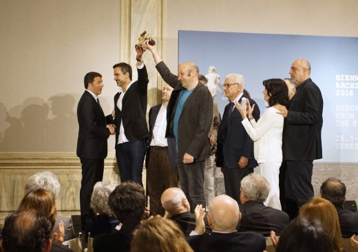 Venice Biennale Golden Lion Award 2016 Pavilion of Spain