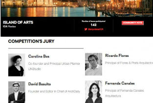 Iñaqui Carnicero will be part of the International Jury for the Island of Venice Competition organized by Arquideas