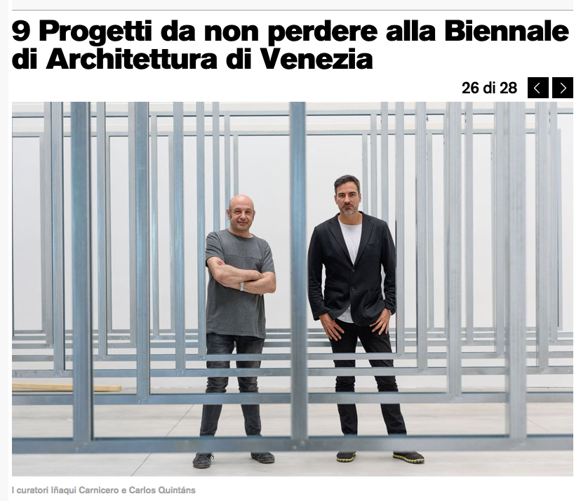 La Repubblica newspaper on the Spanish Pavilion at the Venice Biennale