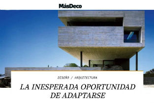 MasDeco magazine from Chile interviewing Iñaqui Carnicero
